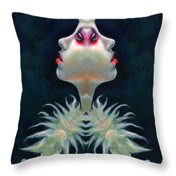 Double Faced Throw Pillow
