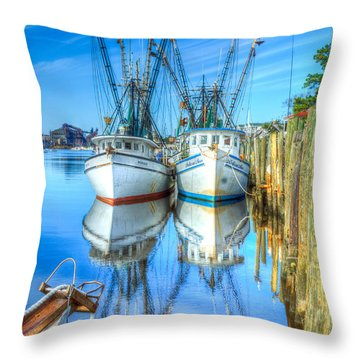 Double Parked Throw Pillow