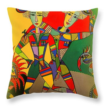 Let's Go Brother Throw Pillow