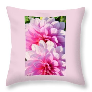 Double Pink Throw Pillow by Kathleen Struckle