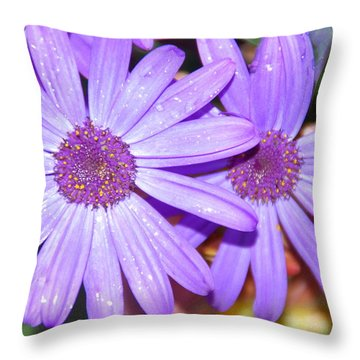 Double Purple Throw Pillow