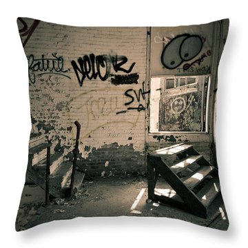 Double Stairs Throw Pillow by Priya Ghose