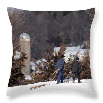 Throw Pillow featuring the photograph Double The Fun by Linda Mishler