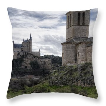 Double The View Throw Pillow by Joan Carroll
