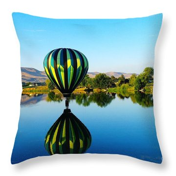 Double Touchdown  Throw Pillow by Jeff Swan