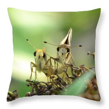 Throw Pillow featuring the photograph Double Trouble by Jennifer Wheatley Wolf