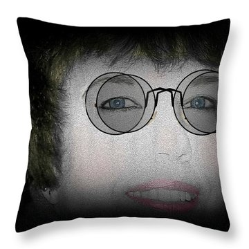 Double Vision Throw Pillow by Barbara S Nickerson