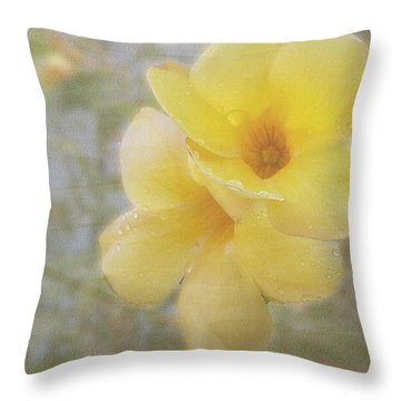 Double Yellow Throw Pillow by Larry Bishop