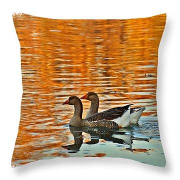 Throw Pillow featuring the photograph Doubles by Lynn Hopwood