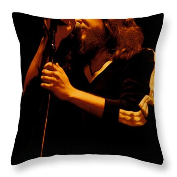 Doug Gray Of The Marshall Tucker Band At The Cow Palace Throw Pillow