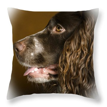 Dougie The Cocker Spaniel 2 Throw Pillow by Linsey Williams