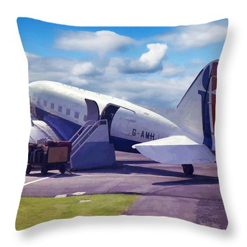 Douglas Dakota Dc3 Throw Pillow