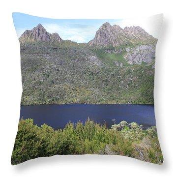 Dove Lake Tasmania All Profits Go To Hospice Of The Calumet Area Throw Pillow