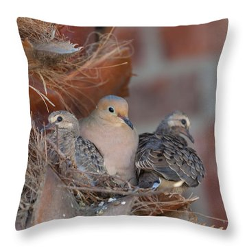Dove Nest 4 Throw Pillow