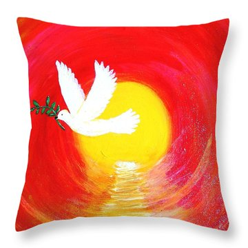 Dove Of Peace Throw Pillow