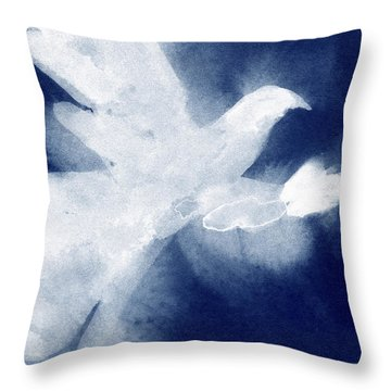 Dove Watercolor Painting Of Birds Throw Pillow