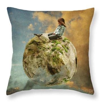 Dove Whisperer Throw Pillow