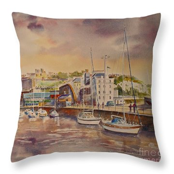 Dover Marina In Uk Throw Pillow