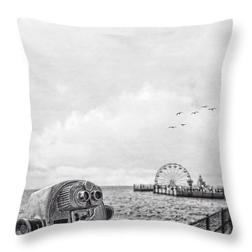 Down At The Pier Throw Pillow by Edward Fielding