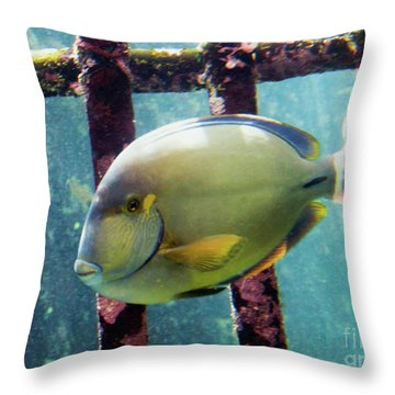 Down At The Shipwreck Throw Pillow