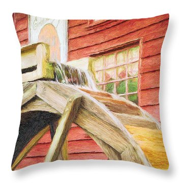 Down By The Old Mill Throw Pillow by Jeffrey Kolker