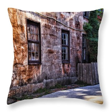 Down By The Old Mill Throw Pillow by Mary Lou Chmura