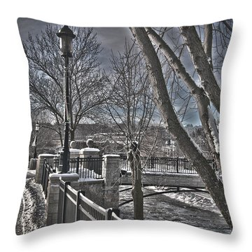 Throw Pillow featuring the photograph Down By The River by Deborah Klubertanz