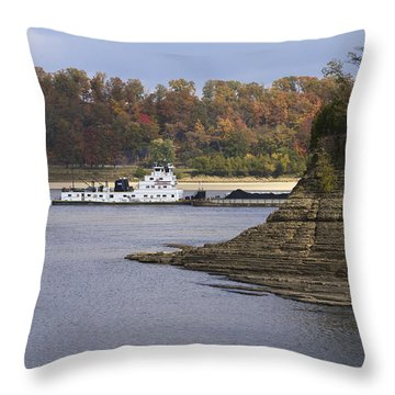 Down By The River Throw Pillow by Jane Eleanor Nicholas