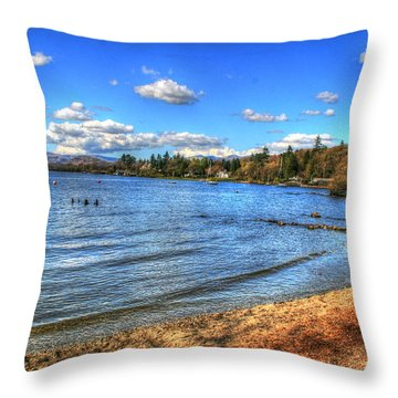 Throw Pillow featuring the photograph Down By The Riverside by Doc Braham