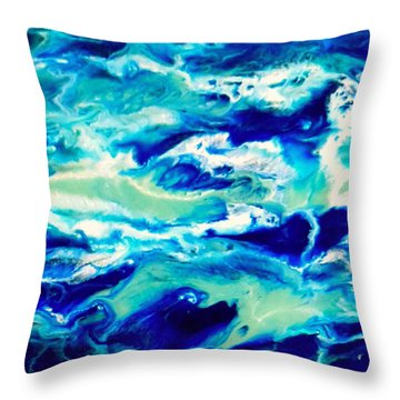 Down By The Seaside 1 Throw Pillow
