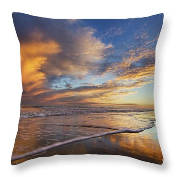 Down By The Seaside Throw Pillow