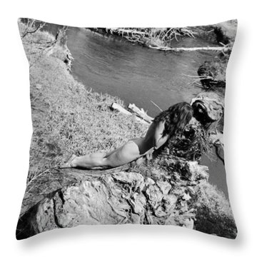 Down By The Water Throw Pillow
