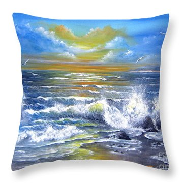 Down Came The Sun  Throw Pillow by Patrice Torrillo
