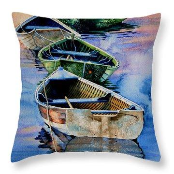 Down East Dories At Dawn Throw Pillow