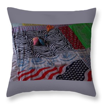 Throw Pillow featuring the photograph Down Home American by John Glass
