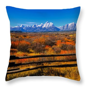 Down In The Valley Throw Pillow by Greg Norrell