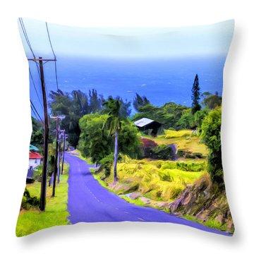 Down Into Honokaa Throw Pillow