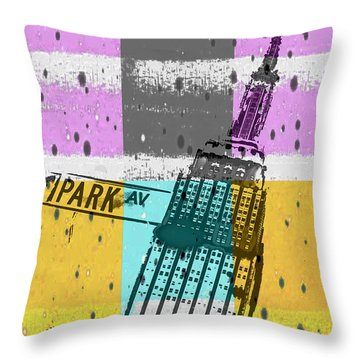 Down Park Av Throw Pillow