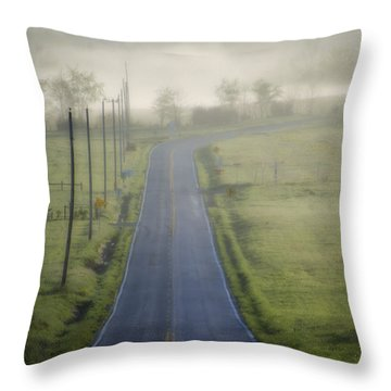 Down Roads Unknown Throw Pillow by Bill Cannon