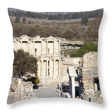 Down The Ancient Street Throw Pillow