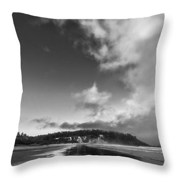Down The Beach Throw Pillow