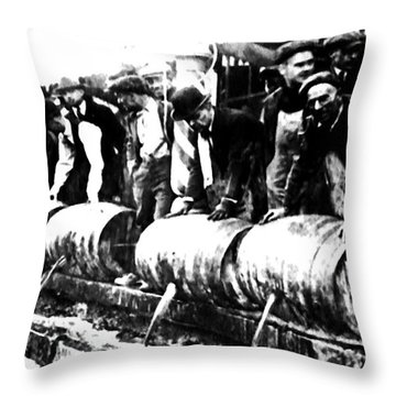 Down The Drain Throw Pillow by Bill Cannon