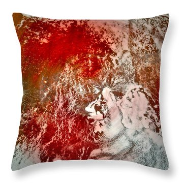 Down The Drain Throw Pillow by Gwyn Newcombe