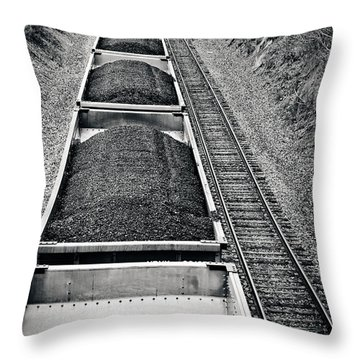 Down The Line Throw Pillow by Jessica Brawley