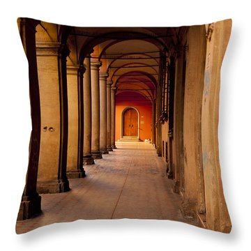 Down The Portico Throw Pillow by Rae Tucker