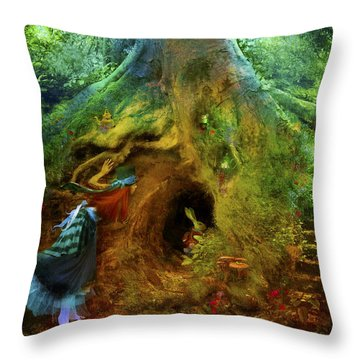 Down The Rabbit Hole Throw Pillow by Aimee Stewart