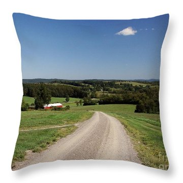 Down The Road A Bit Throw Pillow