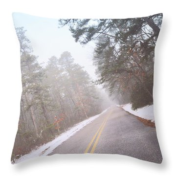Throw Pillow featuring the photograph Down The Road by Beth Sawickie