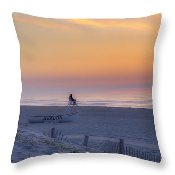 Down The Shore - Avalon New Jersey Throw Pillow