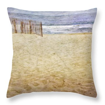 Throw Pillow featuring the photograph Down The Shore by Debra Fedchin